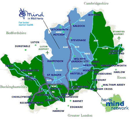 map of mid herts
