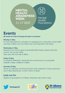 Mental Health Awareness Week 11-17 May 2015 St Albans Schedule of Events-page-001