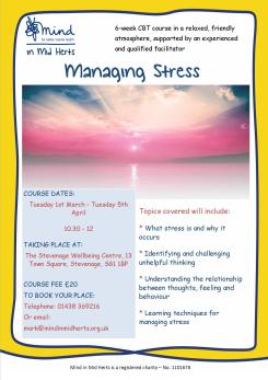 Stress course poster_Stevenage