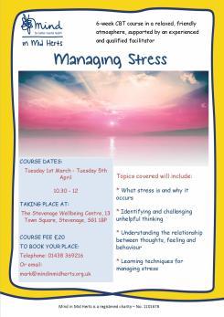 Stress course poster_Stevenage
