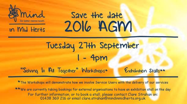 Mind In Mid Herts_Save the date_AGM_2016