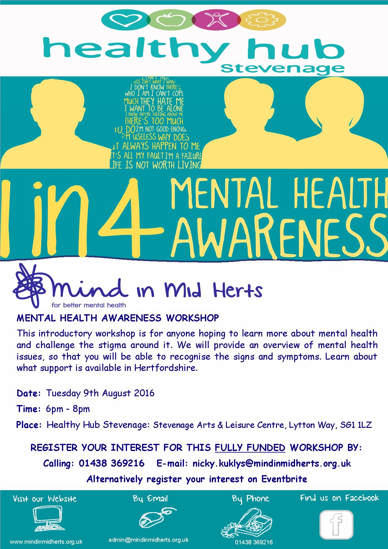 Healthy Hub Mental Health Awareness Workshop Mind In Mid Herts