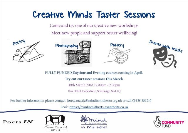 Creative Minds taster sessions